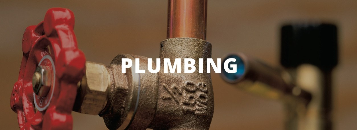Plumbing - Hot water pipe with red handle
