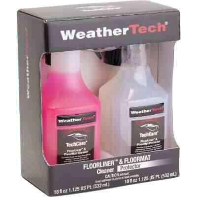 WeatherTech TechCare 18 Oz. Liquid Floorliner & Floormat Auto Interior Cleaner and 18 Oz. Liquid Protector Kit (2-Pack)