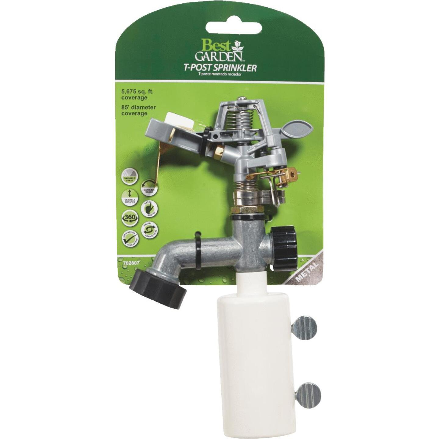 Best Garden Zinc 5675 Sq. Ft. T-Post Sprinkler Image 3