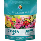 Earth Science All-In-One 2 Lb. 200 Sq. Ft. Coverage Zinnia Wildflower Seed Mix Image 1