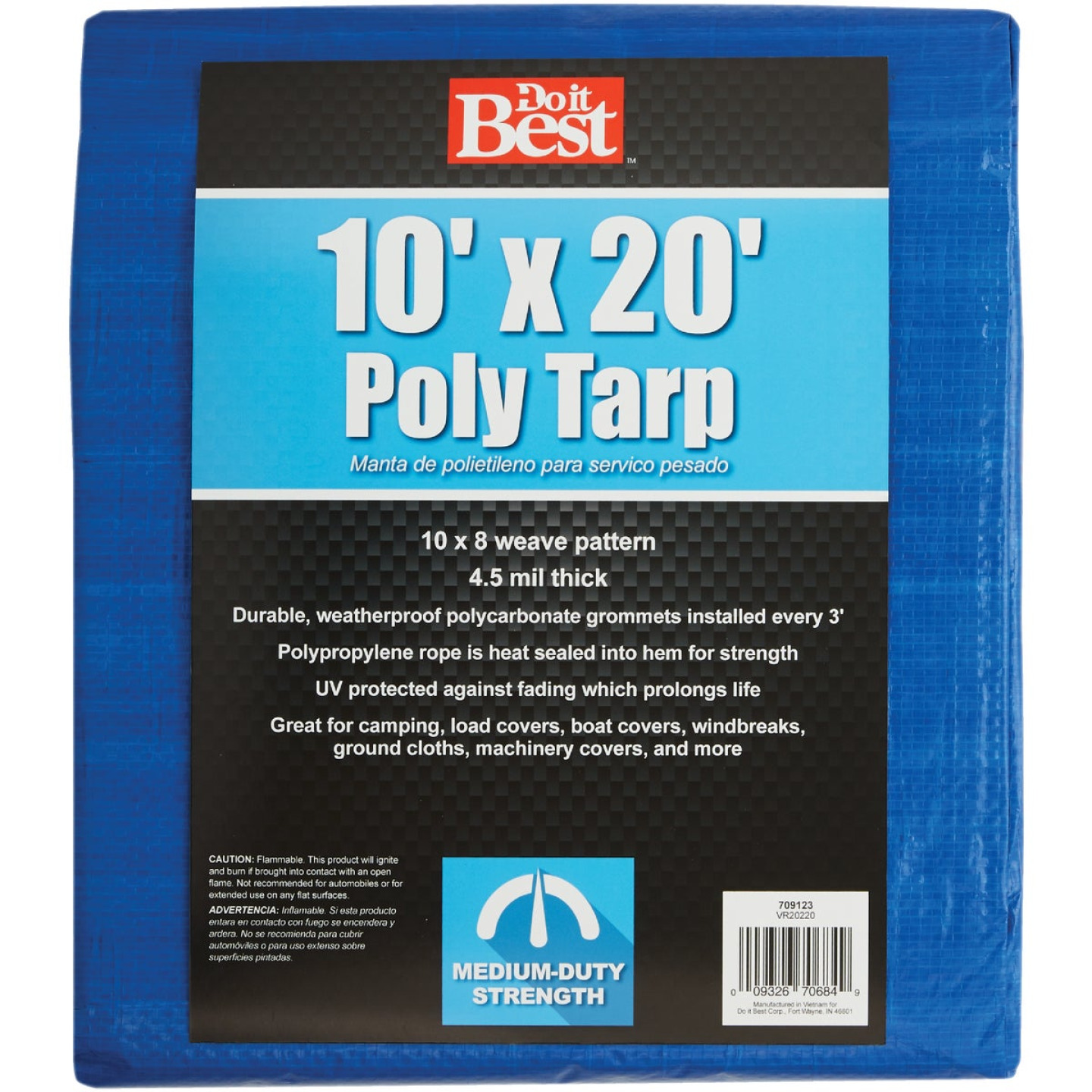 Do it Best Blue Woven 10 Ft. x 20 Ft. Medium Duty Poly Tarp Image 1