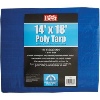 Do it Best Blue Woven 14 Ft. x 18 Ft. Medium Duty Poly Tarp