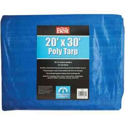 Do it Best Blue Woven 20 Ft. x 30 Ft. Medium Duty Poly Tarp
