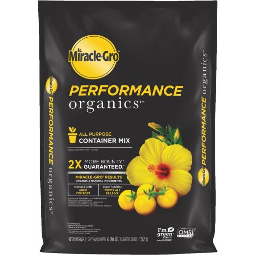 Miracle-Gro Performance Organics 16 Qt. 16-1/2 Lb. All Purpose Container Potting Soil