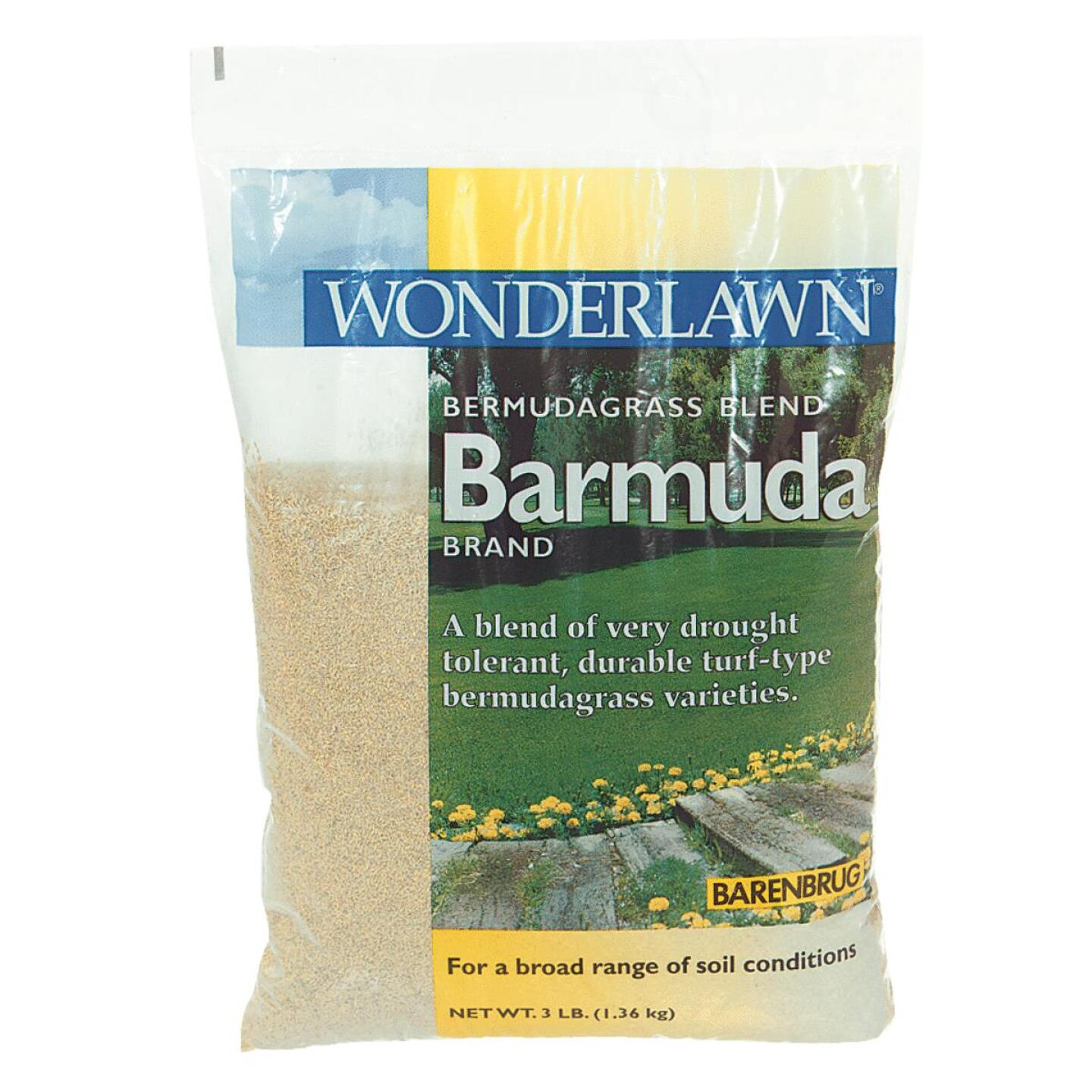 Wonderlawn 3 Lb. 675 Sq. Ft. Coverage 100% Bermuda Hulled Bermudagrass Grass Seed Image 1